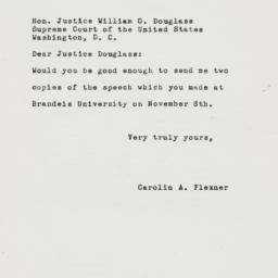 Letter : 1951 November 30