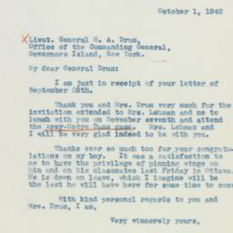 Letter: 1942 October 1