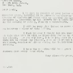 Letter : 1940 November 15