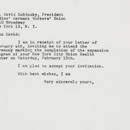 Letter : 1949 February 7