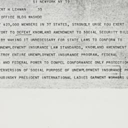 Telegram : 1950 June 19