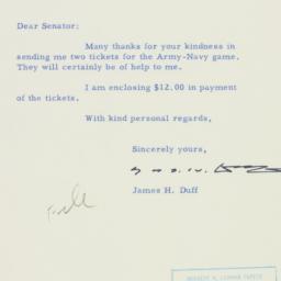 Letter : 1954 November 19