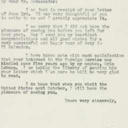Letter : 1952 June 11