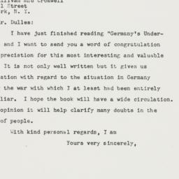 Letter : 1947 August 18