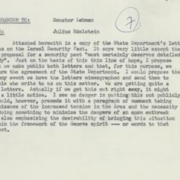 Memorandum : 1955 October 29