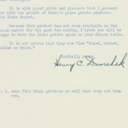 Letter : 1952 March 13