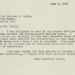 Letter: 1945 June 1