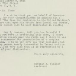 Letter : 1949 May 16