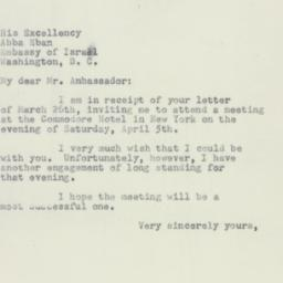 Letter : 1952 March 31