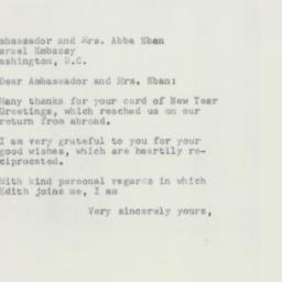 Letter : 1952 September 18