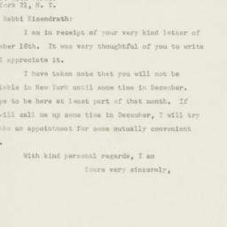 Letter : 1947 November 20