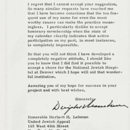 Letter: 1962 July 2
