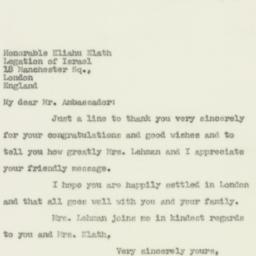 Letter : 1950 November 18