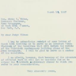 Letter : 1937 March 15