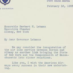 Letter : 1933 February 16