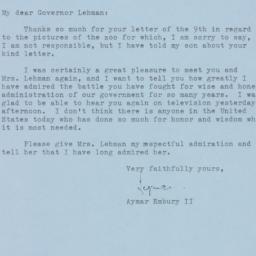Letter : 1961 December 11