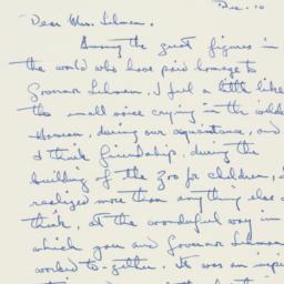 Letter: 1963 December 10