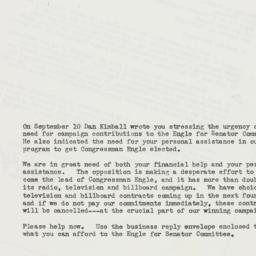 Letter : 1958 October 9