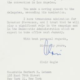 Letter : 1960 July 27