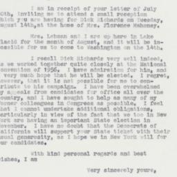 Letter : 1962 August 3