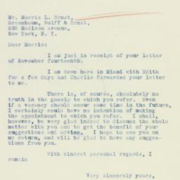 Letter : 1934 November 20