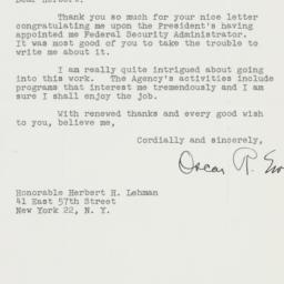 Letter : 1947 August 22