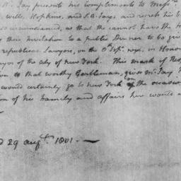 Document, 1801 August 29