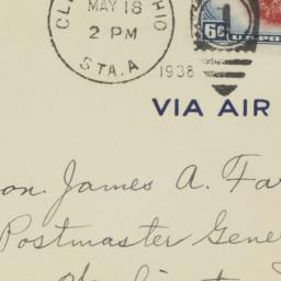 Envelope: 1938 May 18