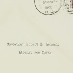 Envelope: 1940 January 18