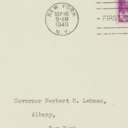 Envelope: 1940 September 16