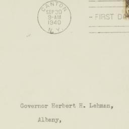 Envelope: 1940 September 30