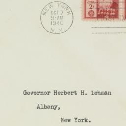 Envelope: 1940 October 7