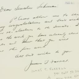 Letter : 1950 November 10