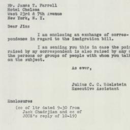 Letter : 1953 October 29