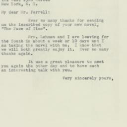 Letter : 1953 November 9