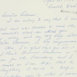 Letter : 1956 April 20