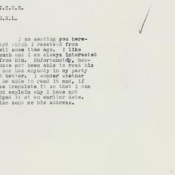Memorandum : 1961 February 27