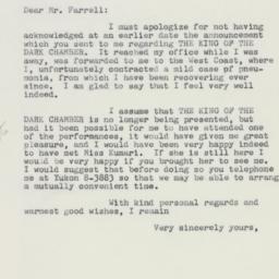 Letter : 1961 April 10