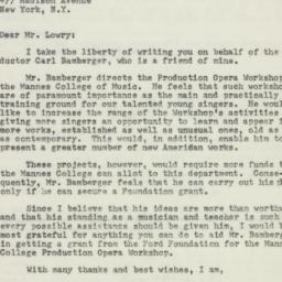Letter : 1961 May 2