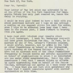 Letter : 1961 May 15
