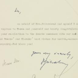 Letter : 1950 November 7