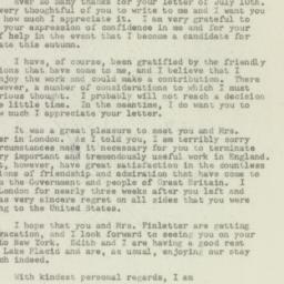 Letter: 1949 July 16