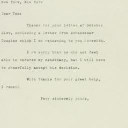 Letter : 1949 October 24