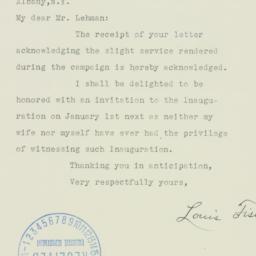 Letter : 1938 November 22