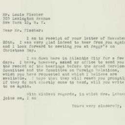 Letter : 1954 November 23