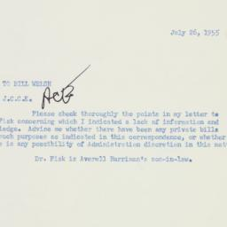 Memorandum : 1955 July 26