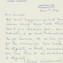 Letter : 1960 June 17