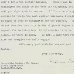 Letter : 1943 June 18