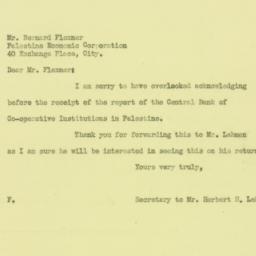 Letter : 1926 July 21