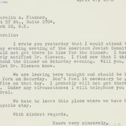 Letter : 1948 April 27